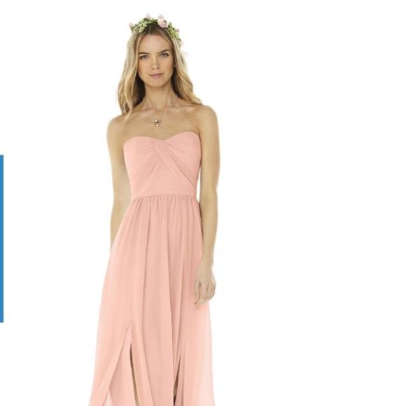 b19b3529b722e Dessy Collection Dresses | Peaches And Cream Chiffon Bridesmaids ...
